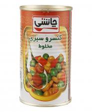 کنسرو سبزیجات 430 گرمی چاشنی
