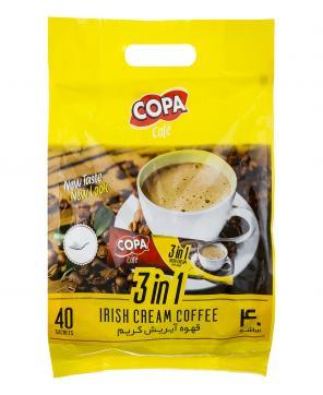 قهوه آیریش کریم 40 عددی 18 گرمی کوپا