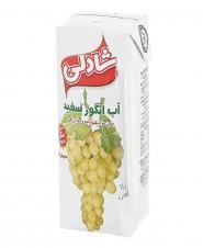 آبمیوه انگور سفید بدون شکر 200 میلیلیتری شادلی