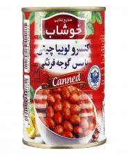کنسرو لوبیا چیتی با سس گوجه فرنگی 350 گرمی خوشاب