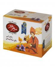 چای سیاه کیسهای زعفرانی 20 عددی سحرخیز