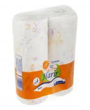 دستمال حولهای گلدار 2 رول حریر