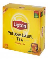 چای کیسهای زرد نشان ۱۰۰ عددی لیپتون