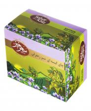 چای کیسهای سبز زعفرانی 25 عددی سحرخیز