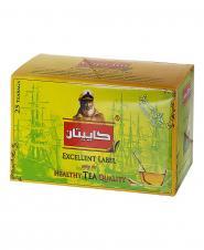 چای سبز کیسهای 25 عددی کاپیتان