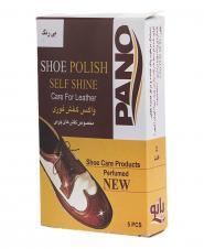 دستمال مرطوب پاک کننده و براق کننده کفش 5 عددی پانو