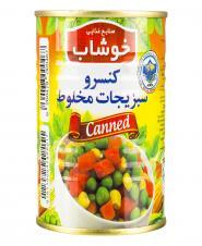 کنسرو سبزیجات مخلوط 350 گرمی خوشاب
