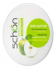 کرم بدن حاوی کره گیاهی سیب سبز 200 میلیلیتری شون