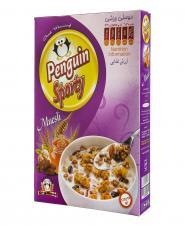 صبحانه میوسلی ورزشی 375 گرمی پنگوئن
