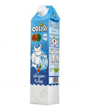 شیر نیم چرب 1000 میلی لیتری روزانه
