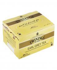 چای سیاه کیسه ای کلاسیک ارل گری ملایم معطر به عصاره  برگاموت 50 عددی توینینگز