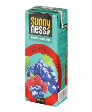 نوشیدنی بدون گاز مخلوط میوههای قرمز 200 میلیلیتری سانی نس