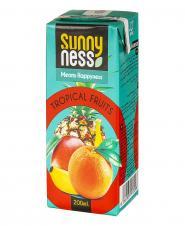 نوشیدنی بدون گاز مخلوط میوههای استوایی 200 میلیلیتری سانی نس