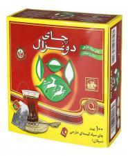 چای سیاه کیسهای ساده 100 عددی دوغزال
