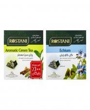 چای سبز معطر (رایگان) و گل گاو زبان 20 عددی رستنی