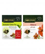 چای سبز معطر (رایگان) و چای ترش 20 عددی رستنی