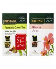 چای سبز معطر (رایگان) و چای ترش 16 عددی رستنی