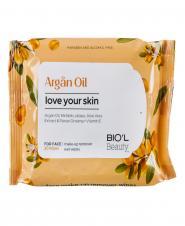 دستمال مرطوب پاک کننده آرایش صورت برای پوست های خشک و حساس 20 عددی بیول
