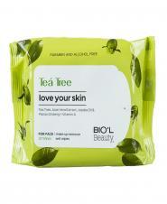 دستمال مرطوب پاک کننده آرایش صورت برای پوست های چرب  20 عددی بیول