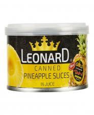 کمپوت آناناس حلقه ای 227 گرمی لئونارد