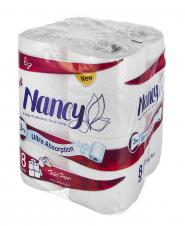 دستمال توالت 3 لایه 8 رول نانسی