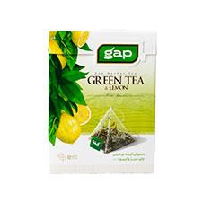دمنوش چای سبز و لیمو گپ 12 عددی